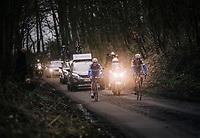 race leaders Niki Terpstra (NED/Quick-Step Floors) & Yves Lampaert (BEL/Quick Step Floors) up the Karnemelkbeekstraat<br /> <br /> 61th E3 Harelbeke (1.UWT)<br /> Harelbeke - Harelbeke (206km)