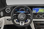 Car pictures of steering wheel view of a 2021 Mercedes Benz E-Class 63-S-AMG 4 Door Sedan Steering Wheel