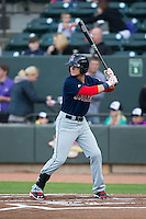 Andrew Benintendi (16) of the Salem Red Sox at bat against the Winston-Salem Dash at BB&T Ballpark on April 15, 2016 in Winston-Salem, North Carolina.  The Red Sox defeated the Dash 3-2.  (Brian Westerholt/Four Seam Images)