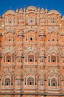 Jaipur, Rajasthan, India.  Hawa Mahal, built 1799.