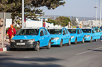 Essaouira, Morocco.  Taxi Stand.