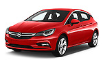 2016 Opel Astra Dynamic 4 Door Hatchback Angular Front stock photos of front three quarter view
