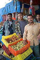 Tripoli, Libya - Fruit and Vegetable Stand, Egyptian Workers