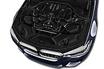 Car stock 2018 BMW M5 Base 4 Door Sedan engine high angle detail view
