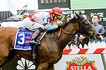 BALTIMORE, MD - MAY 19: Ultra Brat, #3, ridden by Jose Ortiz, wins the Gallorette Stakes on Preakness Day at Pimlico Race Course on May 19, 2018 in Baltimore, Maryland (Photo by Sue Kawczynski/Eclipse Sportswire/Getty Images)