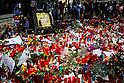 Memorial for victims of terror attacks in Las Ramblas in Barcelona