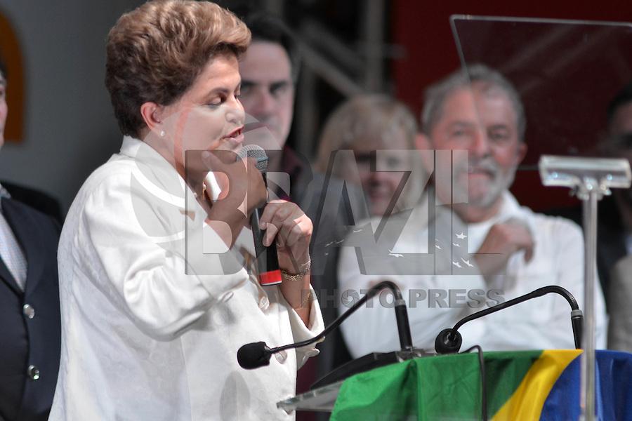 BRASÍLIA, DF, 26.10.2014 – ELEIÇOES 2014 – DILMA ROUSSEFF REELEITA – A presidente reeleita Dilma Rousseff durante evento em comemoração à sua reeleição no hotel Royal Tulip em Brasília, na noite deste domingo, 26. (Foto: Ricardo Botelho / Brazil Photo Press)