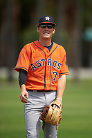 Houston Astros Bobby Wernes (77) during practice before a minor league Spring Training game against the Detroit Tigers on March 30, 2016 at Tigertown in Lakeland, Florida.  (Mike Janes/Four Seam Images)