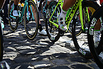 Waiting on the line in Compiegne for the start of the 116th edition of Paris-Roubaix 2018. 8th April 2018.<br /> Picture: ASO/Pauline Ballet | Cyclefile<br /> <br /> <br /> All photos usage must carry mandatory copyright credit (© Cyclefile | ASO/Pauline Ballet)
