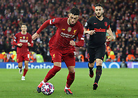 Liverpool's Alex Oxlade-Chamberlain under pressure from Atletico Madrid's Koke <br /> <br /> Photographer Rich Linley/CameraSport<br /> <br /> UEFA Champions League Round of 16 Second Leg - Liverpool v Atletico Madrid - Wednesday 11th March 2020 - Anfield - Liverpool<br />  <br /> World Copyright © 2020 CameraSport. All rights reserved. 43 Linden Ave. Countesthorpe. Leicester. England. LE8 5PG - Tel: +44 (0) 116 277 4147 - admin@camerasport.com - www.camerasport.com