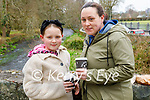 Enjoying a cup of hot chocolate in the Killarney National park on Sunday, l to r: Brooke and Catriona Cronin.