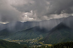 Rain at Paro valley as seen from another cliff.  Arindam Mukherjee..