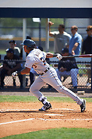 Detroit Tigers Franklin Navarro (73) bats during a minor league Spring Training game against the New York Yankees on March 22, 2017 at the Yankees Complex in Tampa, Florida.  (Mike Janes/Four Seam Images)