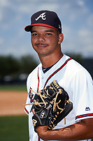 GCL Braves pitcher Troy Bacon (27) poses for a photo after a game against the GCL Pirates on July 27, 2017 at ESPN Wide World of Sports Complex in Kissimmee, Florida.  GCL Braves defeated the GCL Pirates 8-6.  (Mike Janes/Four Seam Images)