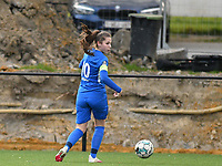 Sien Vandersanden (10) of KRC Genk pictured during a female soccer game between Sporting Charleroi and KRC Genk on the 4 th matchday in play off 2 of the 2020 - 2021 season of Belgian Scooore Womens Super League , friday 30 th of April 2021  in Marcinelle , Belgium . PHOTO SPORTPIX.BE | SPP | Jill Delsaux