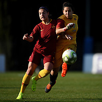 Maria Zeccaof AS Roma and Emma Guidi of Roma CF compete for the ball during the Women Italy cup round of 8 second leg match between AS Roma and Roma Calcio Femminile at stadio delle tre fontane, Roma, February 20, 2019 <br /> Foto Andrea Staccioli / Insidefoto