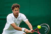 24-06-13, England, London,  AELTC, Wimbledon, Tennis, Wimbledon 2013, Day one, Robin Haase (NED)<br /> <br /> <br /> <br /> Photo: Henk Koster