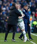 Leigh Griffiths celebrates his goal with Ronny Deila