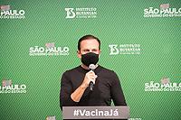 SÃO PAULO, SP, 31.05.2021 - COVID-19-SP - João Doria, Governador de São Paulo, apresenta informações sobre o combate ao coronavírus (COVID-19) em São Paulo, no Instituto Butantan, nesta segunda-feira, 31. (Foto André Ribeiro/Brazil Photo Press)