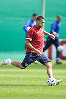 USA's Clint Dempsey during practice in Hamburg, Germany, for the 2006 World Cup, June, 9, 2006.