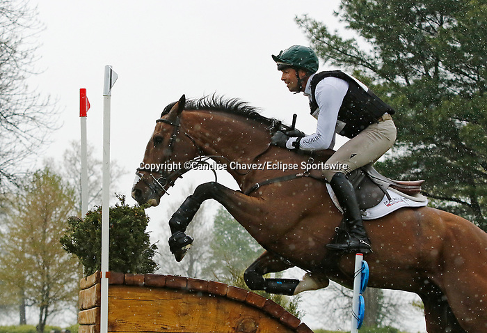 April 24, 2021: #67 Off The Record and rider William Coleman in the Cross Country test at the Land Rover Three Day Event at the Kentucky Horse Park in Lexington, KY on April 24, 2021.  Candice Chavez/ESW/CSM