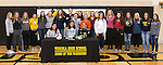 March 1, 2017- Tuscola, IL- Maddie Allen coach, teammates, and friends after signing her letter of intent to continue her volleyball career with the Parkland Cobras. [Photo: Douglas Cottle]