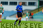 Referee Brendan Griffin during the Kerry County Senior Football Championship Semi-Final match between East Kerry and St Brendan's at Austin Stack Park in Tralee, Kerry.