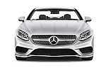 Car photography straight front view of a 2017 Mercedes Benz S-Class AMG-Line 2 Door Convertible Front View