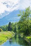 Binnenkanal, Gamprin, Rheintal, Rhine-valley, Liechtenstein.
