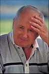 portrait of worried elder man