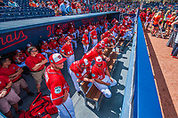 28 February 2017: The Washington Nationals gather in the dugout prior to the Spring Training inaugural game against the Houston Astros at the Ballpark of the Palm Beaches in West Palm Beach, Florida. The Nationals defeated the Astros 4-3 in Grapefruit League play. Mandatory Credit: Ed Wolfstein Photo *** RAW (NEF) Image File Available ***