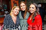 Jennifer O'Riordan, Maeve Ellen O'Brien and Alison Stack enjoying the Cheltenham Races in the Castle Bar on Thursday.