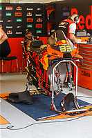 2nd October 2021; Austin, Texas, USA;  Brad Binder (33) - (RSA) pit before Free Practise 3 at the MotoGP Red Bull Grand Prix of the Americas held October 2, 2021 at the Circuit of the Americas in Austin, TX.