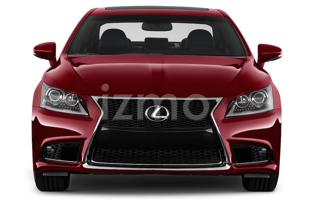 Straight front view of a 2013 Lexus LS 460 4dr Rear-Wheel Drive Sedan