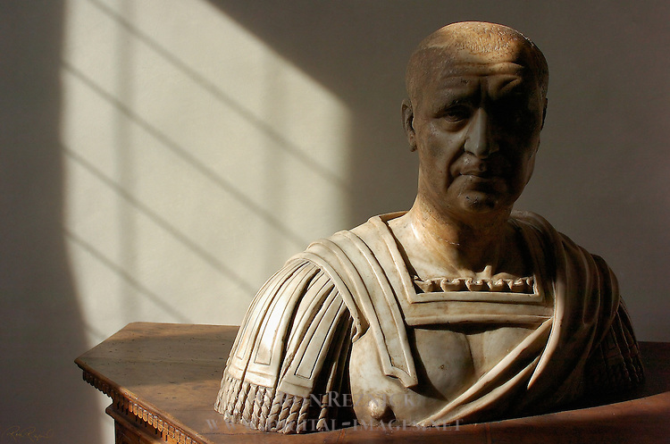 Roman Bust Sala di Ester (dining room) Apartment of the Elements Palazzo Vecchio Florence