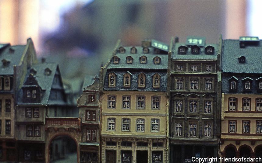 Frankfurt: Old Frankfurt Model--Building elevations Berlinerstr.