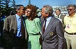 GIGI RIVA CON GIAMPIERO BONIPERTI E SOFIA LOREN<br /> INAUGURAZIONE STADIO DI MARINO - ROMA 1991