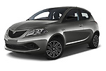 Stock pictures of low aggressive front three quarter view of 2019 Lancia Ypsilon Gold 5 Door Hatchback Low Aggressive