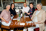 Members of the Ballybunion Ladies Golf enjoying the hospitality in the Horseshoe Bar in Listowel on Friday, l to r: Mary Horgan, Deidre Dillane, Ann Marie Carroll, Mary Stack and Norma Mullane