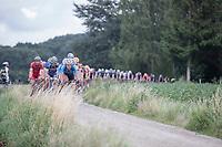 Peloton hits the gravel<br /> <br /> 2nd Dwars door het Hageland 2017 (UCI 1.1)<br /> Aarschot > Diest : 193km