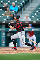 Indianapolis Indians Kevin Kramer (17) at bat during an International League game against the Buffalo Bisons on June 20, 2019 at Sahlen Field in Buffalo, New York.  Buffalo defeated Indianapolis 11-8  (Mike Janes/Four Seam Images)