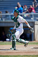 Beloit Snappers catcher Collin Theroux (23) during a game against the Bowling Green Hot Rods on May 7, 2017 at Pohlman Field in Beloit, Wisconsin.  Bowling Green defeated Beloit 6-2.  (Mike Janes/Four Seam Images)