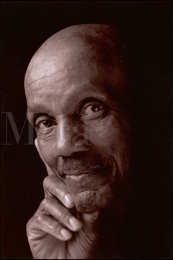 Portrait of mature African American man.
