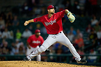 Worcester Red Sox pitcher Colten Brewer (62) during a game against the Rochester Red Wings on September 4, 2021 at Frontier Field in Rochester, New York.  (Mike Janes/Four Seam Images)