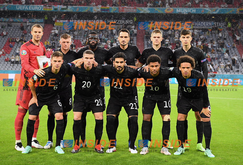 MUNICH, GERMANY - JUNE 23: Players of Germany pose for a team photograph prior to the UEFA Euro 2020 Championship Group F match between Germany and Hungary at Allianz Arena on June 23, 2021 in Munich, Germany. (Photo by Sebastian Widmann - UEFA/UEFA via Getty Images)<br /> Photo Uefa/Insidefoto ITA ONLY
