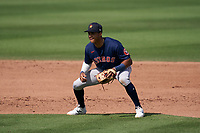 Houston Astros shortstop Jeremy Peña (89) during a Major League Spring Training game against the St. Louis Cardinals on March 20, 2021 at Roger Dean Stadium in Jupiter, Florida.  (Mike Janes/Four Seam Images)