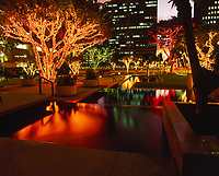 Christmas Lights, Downtown Honolulu, Oahu, Hawaii, USA.