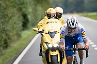 Mauri Vansevenant (BEL/Deceuninck - Quick Step) is the sole survivor of the day's breakaway in the race finale<br /> <br /> 84th La Flèche Wallonne 2020 (1.UWT)<br /> 1 day race from Herve to Mur de Huy (202km/BEL)<br /> <br /> ©kramon