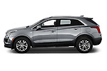 Car Driver side profile view of a 2022 Cadillac XT5 Premium-Luxury-2.0L-FWD 5 Door suv Side View