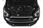 Car Stock 2020 MINI Countryman Cooper-SE-JCW 5 Door SUV Engine  high angle detail view